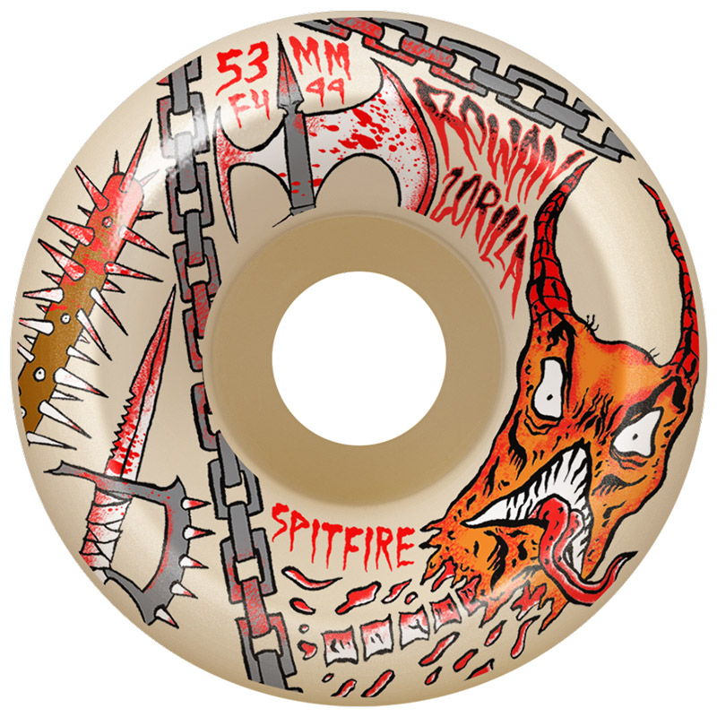 Spitfire x Neckface Rowan Formula Four Conical Full Wheels 99D 53mm