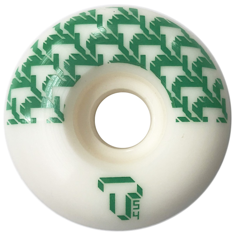 Tada 8 Bit T Classic Wide Wheel White/Green 54mm
