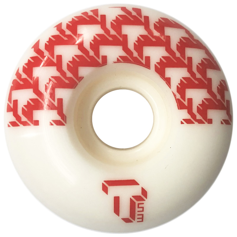 Tada 8 Bit T Classic Wide Wheel White/Red 53mm