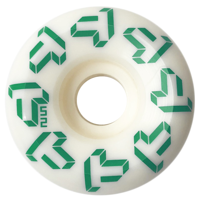 Tada Repeat T Conical Wheel White/Green 54mm