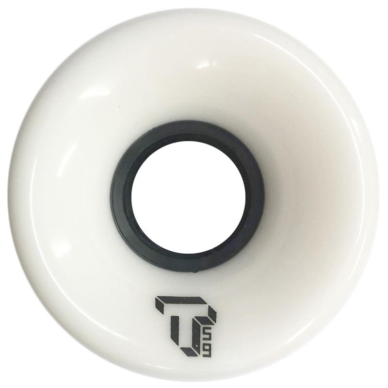 Tada Single T Cruiser Wheel Solid White 59mm