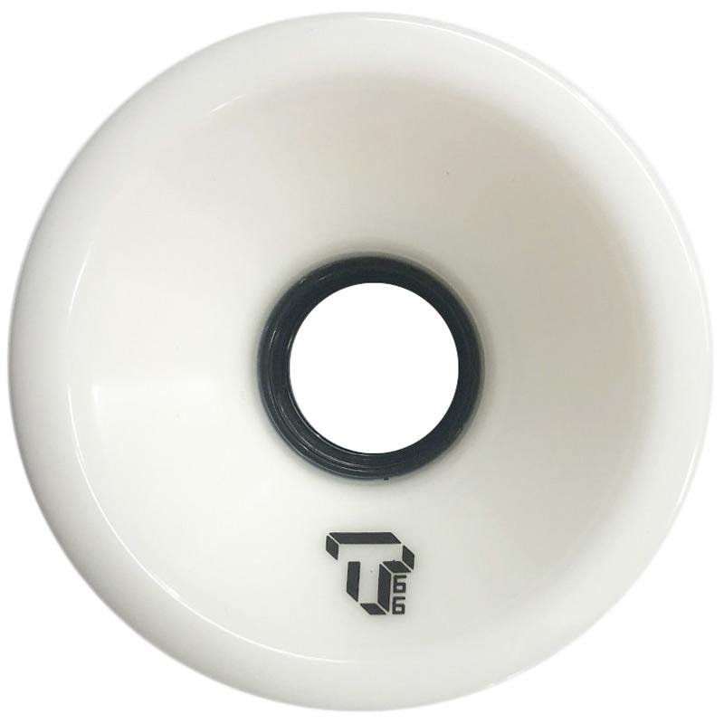 Tada Single T Cruiser Wheel Solid White 66mm