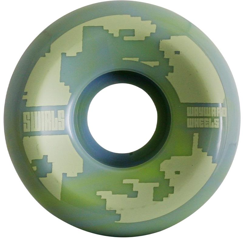 Wayward Swirl Formula Funnel Cut Q2 D1 Green/Blue 83B 53mm