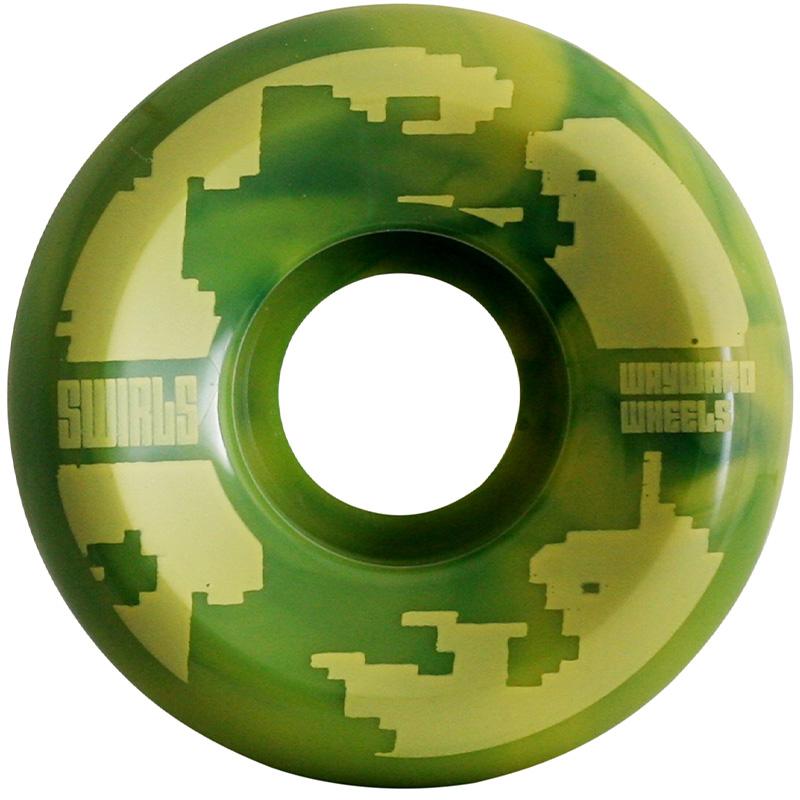 Wayward Swirl Formula Funnel Cut Q2 D1 Green/Yellow 83B 52mm