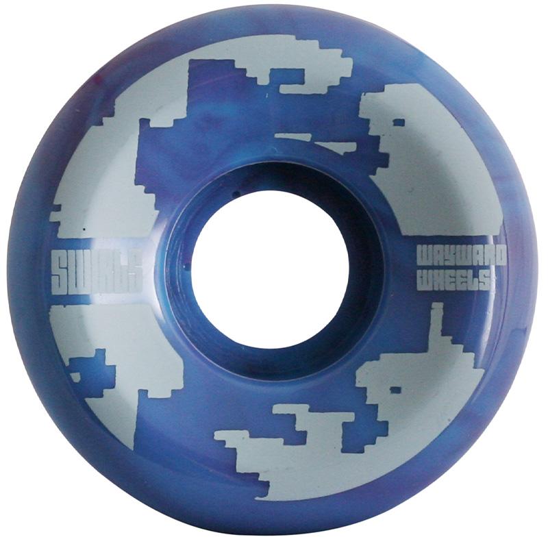 Wayward Swirl Formula Funnel Cut Q2 D1 Turquoise/Purple 83B 54mm
